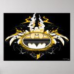 Logotipo de Batman con los coches Poster