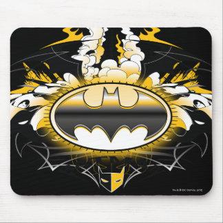 Logotipo de Batman con los coches Tapetes De Raton