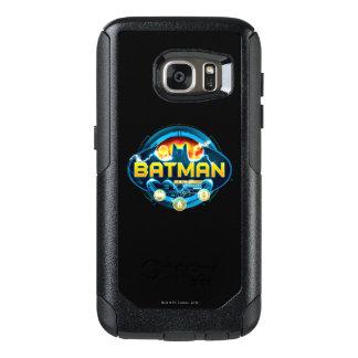 Logotipo de Batman con los iconos Funda Otterbox Para Samsung Galaxy S7