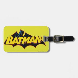 Logotipo de Batman de la escuela vieja Etiquetas Para Equipaje