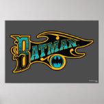 Logotipo de Batman del vintage Impresiones