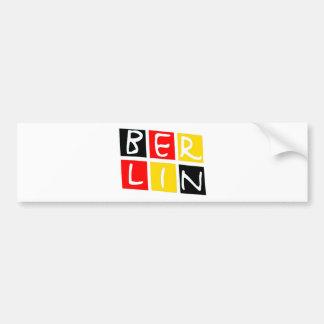 Logotipo de Berlín, Alemania en cuadrados Pegatina Para Auto