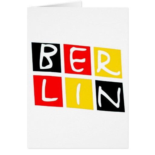 Logotipo de Berlín, Alemania en cuadrados Tarjeta De Felicitación