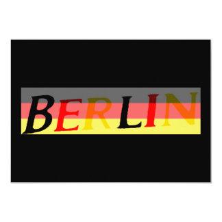 Logotipo de Berlín en bandera alemana Invitación 12,7 X 17,8 Cm