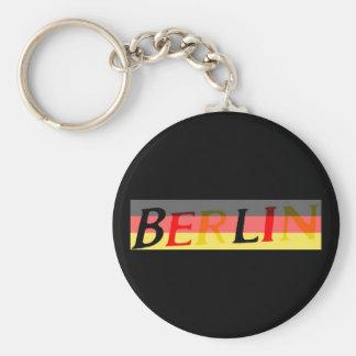 Logotipo de Berlín en bandera alemana Llaveros Personalizados