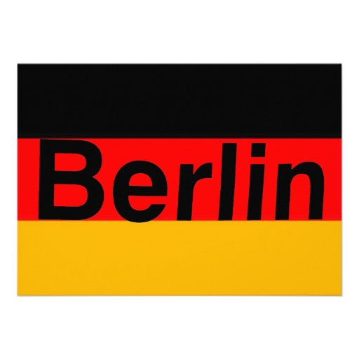 Logotipo de Berlín en negro en bandera alemana Comunicados Personales