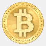 logotipo de Bit-coin-trading.com Etiqueta Redonda