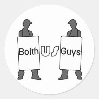 Logotipo de BolthUsGuys Pegatina Redonda