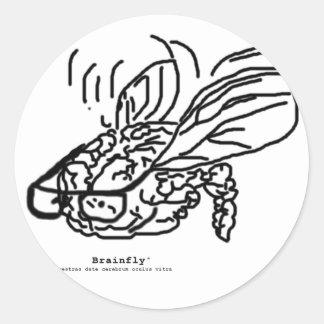 Logotipo de Brainfly Pegatina Redonda