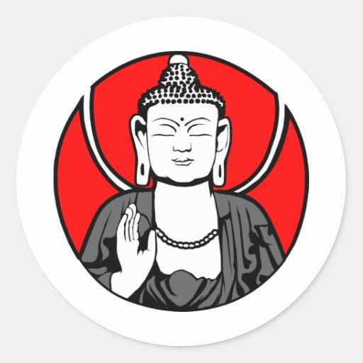 Logotipo de Buda Etiqueta