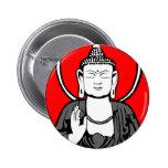 Logotipo de Buda Pin Redondo De 2 Pulgadas