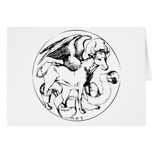 Logotipo de Bull del vintage Tarjeta De Felicitación