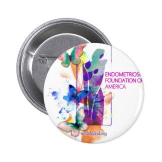 Logotipo de Butterflys Pin Redondo De 2 Pulgadas
