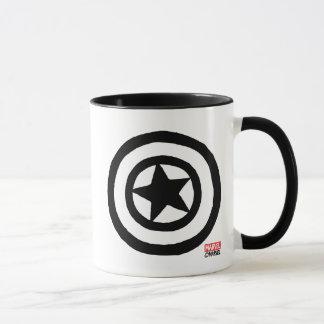 Logotipo de capitán América del estallido Taza
