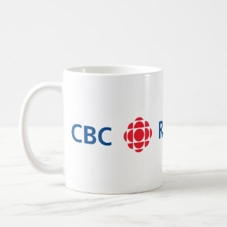 Logotipo de CBC/Radio-Canada Taza Básica Blanca