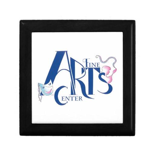 Logotipo de centro de las bellas arte cajas de recuerdo