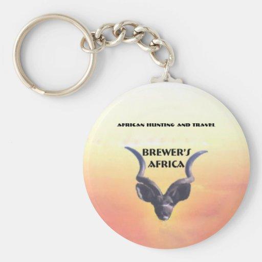 Logotipo de cervecero de África Llavero