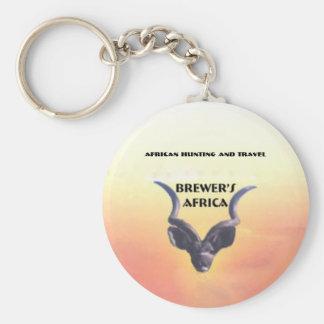 Logotipo de cervecero de África Llavero Redondo Tipo Pin
