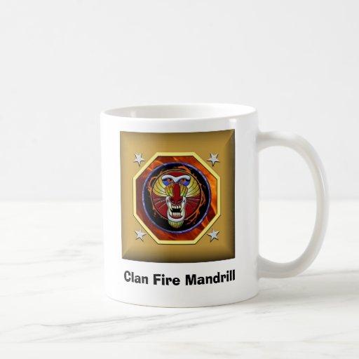 LOGOTIPO de CFM, fuego Mandrill del clan Tazas