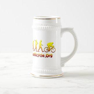 Logotipo de ciclo de Plano Firestarter 3D Jarra De Cerveza