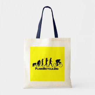 Logotipo de ciclo de PlanoBicycle del estilo de la Bolsas Lienzo