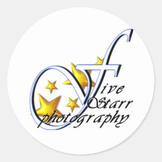Logotipo de cinco Starr Pegatinas
