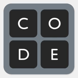 logotipo de Code.org Pegatina Cuadradas