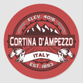 Logotipo de Cortina d'Ampezzo Pegatina Redonda