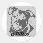 Logotipo de CPBR Pegatina Redonda