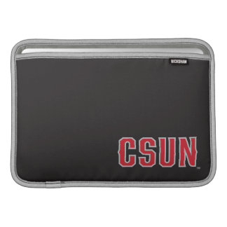 Logotipo de CSUN en negro Funda MacBook