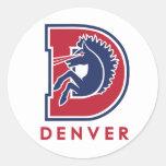 Logotipo de D Denver Pegatina Redonda