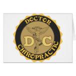LOGOTIPO DE DC - EL DOCTOR CHIROPRACTIC CADUCEUS TARJETA DE FELICITACIÓN