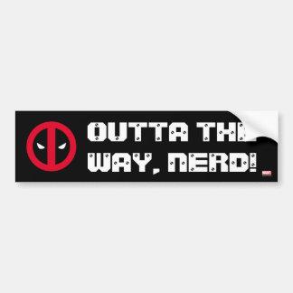 Logotipo de Deadpool Pegatina Para Auto