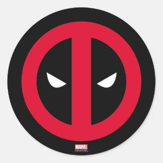 Logotipo de Deadpool Pegatina Redonda