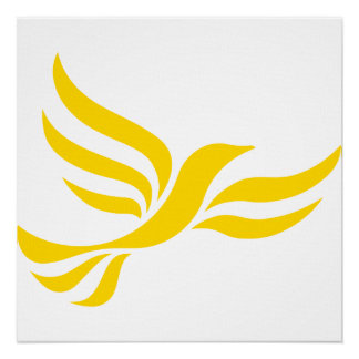 Logotipo de Demócratas liberales Póster