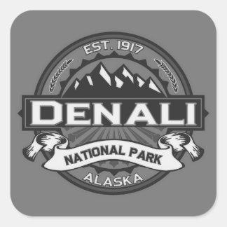 Logotipo de Denali Ansel Adams Pegatina Cuadrada