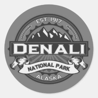 Logotipo de Denali Ansel Adams Pegatina Redonda