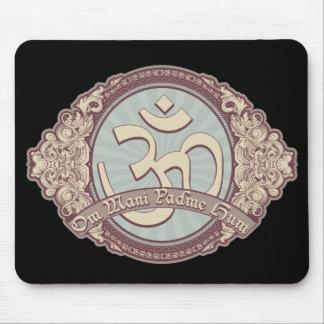 Logotipo de Devanagari OM del vintage Tapetes De Raton