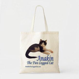 Logotipo de dos piernas del gato de Anakin, la Bolsa Tela Barata