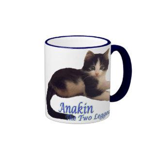 Logotipo de dos piernas del gato de Anakin, taza l