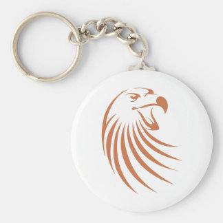 Logotipo de Eagle de oro Llavero Redondo Tipo Pin