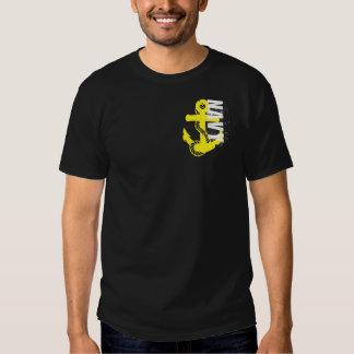 Logotipo de encargo de la marina de guerra playeras