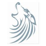 Logotipo de encargo fresco del camisetas del lobo postal