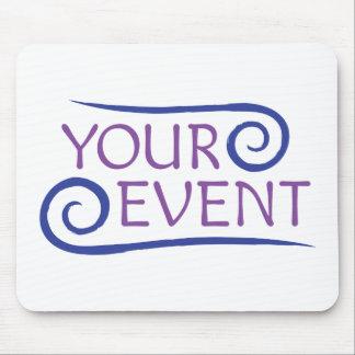 Logotipo de encargo Mousepad del acontecimiento
