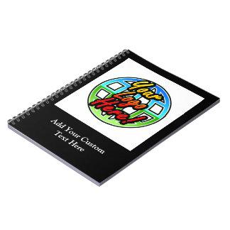 Logotipo de encargo o cuaderno espiral personaliza