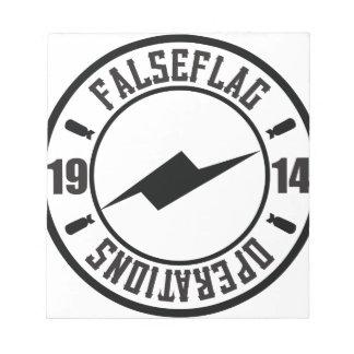 LOGOTIPO DE FALSEFLAG LIBRETAS PARA NOTAS