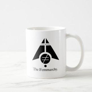 Logotipo de Femmarchy Tazas De Café