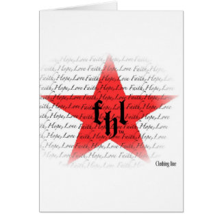 Logotipo de FHL fe esperanza y amor All Star Tarjeton