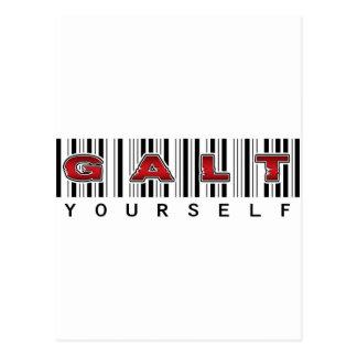 Logotipo de GALT USTED MISMO Tarjetas Postales