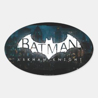 Logotipo de Gotham del caballero de Batman Arkham Pegatina Ovalada